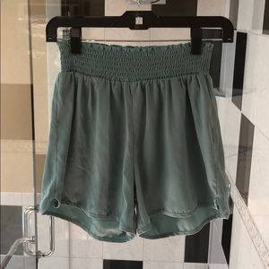Pants - Small Avocado/Moss Silky Shorts
